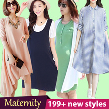 [2 April 2017] Korea Maternity Wear/ Tops/ Dress/ Tee Shirts Vest/ Pregnant Women Clothes Plus Size