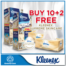 [FREE 2 Kleenex Supreme Skincare Silky Soft With Added Lotion] 2 x Kleenex 3Ply Facial Tissues