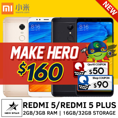 [LATEST!] Xiaomi Redmi 5/5 Plus |12 MP Cam| 2GB/3GB RAM | 16GB/32GB Storage | Playstore Installed Deals for only S$399 instead of S$0