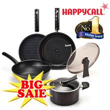 [Happy Call] Black Edition Set Premium Cooking Pot frying Pan Wok happycall cookrware