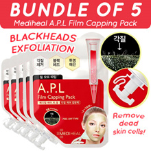 BUNDLE OF 5 Mediheal A.P.L Film Capping Pack ★ Deep Pore Cleansing Mask Pack | Made in Korea