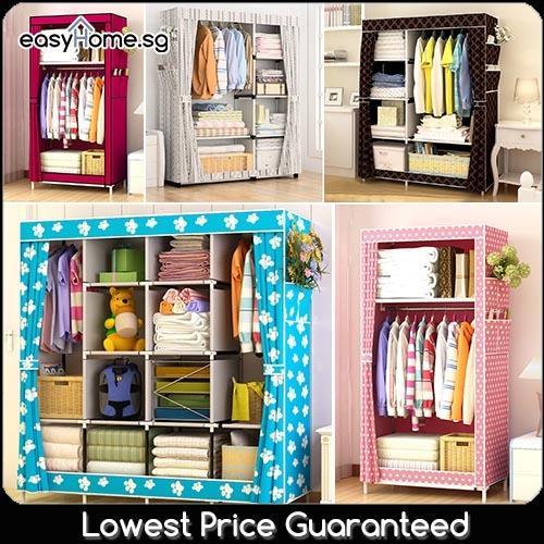 Wardrobe GY02 GY49 GY70 GY18 GY04/ Clothes Rack / Closet Deals for only S$39 instead of S$39