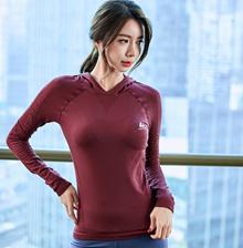 Zumba Sports Yoga Gym Lady Women Top long sleeve Hoodie (champion) CX476