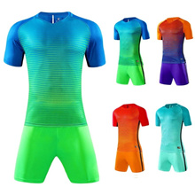 New Men & Children Soccer Jersey Suit Football Team Uniform Football Training Set Striped Football J