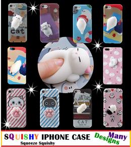 ♥ Squishy Phone Case♥ Soft Silicone Panda Cat ♥ iphone /Samsung ♥ Finger Pinch 3D♥Decompression♥