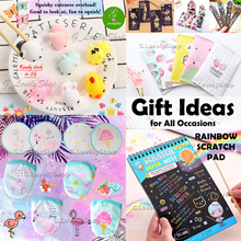FROM $1 GIFT IDEAS: Goodie Bag Party Present Cute Squishy Rainbow Notepad Lanyard ID Pouch