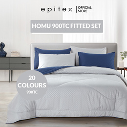 Epitex   New! Homu 900TC Single Solid Colour Bedsheet   Fitted Sheet   16 Colours Available   Gift