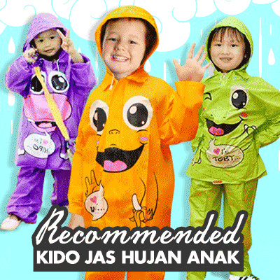 Jas Hujan Anak/ Fashion Adult Rain Coat Anak Kido Deals for only Rp60.000 instead of Rp60.000