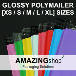 Glossy Coloured Polymailer Bags / Plastic Mailing Bags / Courier Bags/ Delivery Bags / Packaging [★ XS/S/M/L/XL Sizes ★]