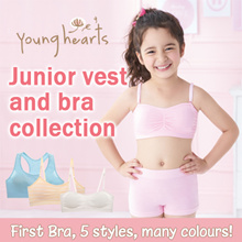 Young Hearts Kids Junior Vest | Bra | Super Soft and Ultra Comfortable Great Support