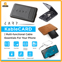Kable CARD | Multi-functional Cable Essentials For Your Phone (Black/White)