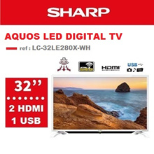 [SHARP OFFICIAL]32 inch HD Digital LED Panel TV LC-32LE280X-WH