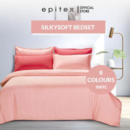 Epitex 900TC Silkysoft Soild Color Bedsheet | Fitted Sheet Set | Bedding Set | Quilt Cover Set