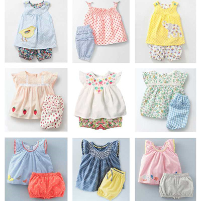 a38f792ef2403 outlet New 2019 Brand Quality 100% Cotton Baby Girls Clothing Summer 2pc  Children Suit Clothes Set S
