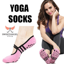 YOGA PILATES COTTON SOCKS ANTI SLIP RESISTANCE GOOD GRIP
