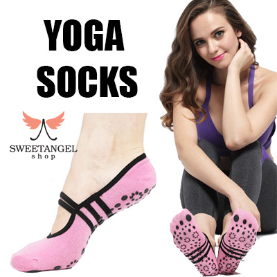 YOGA PILATES COTTON SOCKS ANTI SLIP RESISTANCE GOOD GRIP Deals for only S$9.9 instead of S$0