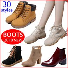 Women Boots*Women Shoes*Martin boots Foot-friendly Block Heel  Autumn Winter Short Boots all-match