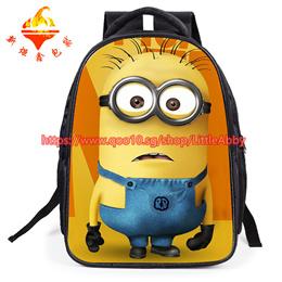 Minions Cartoon  Nylon Backpacks School bag Kids Bags for Children