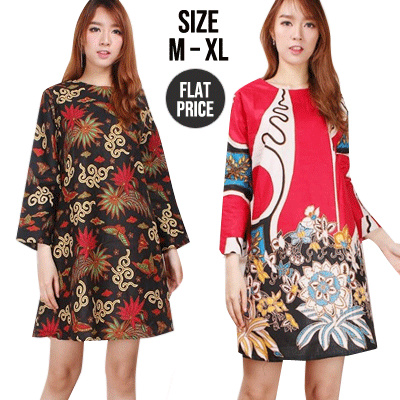 015cb9e4677b Premium Best Seller Premium Midi Dress Tunik Batik Size M-XL   Women Batik  Dress   Chinese new year clothes