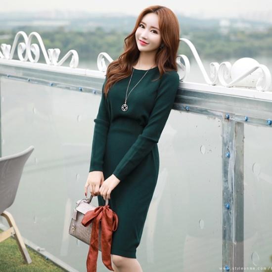 スタイルオンミソフト、スリムラインニット・ワンピース ニット・ワンピース/ 韓国ファッション