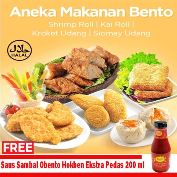 PAKET HEMAT,.. ANEKA MAKANAN BENTO Free Saus Sambal hokben 200ml Deals for only Rp46.500 instead of Rp46.500