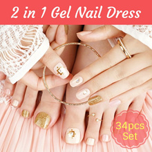 🌺CNY NEW LAUNCH SALE + Giveaway🌺2 in 1 Gel Nail Dress - Full Set Mani and Pedi Nail Dress