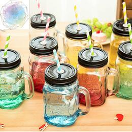Mason Jar ★ Mason Ice Drinking Glass Jar   Vintage Glass Mug