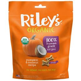 Riley's Organics Snacks for dogs Small bone pumpkin Coconut recipe 5 oz (142 ...