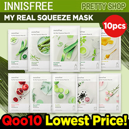 💝TODAY ONLY $6.5💝 [INNISFREE] MY REAL SQUEEZE MASK 10PCS / MASK SHEET