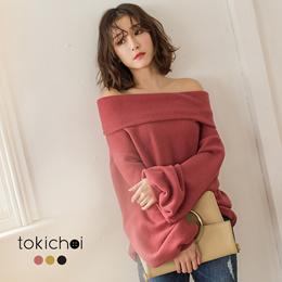 TOKICHOI - Off-Shoulder Long Seleeve Top - 182439