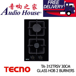 TECNO TA-312TRSV 30CM GLASS HOB 2 BURNERS