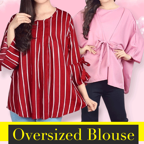 [17/04] Women Big Size Blouse Deals for only Rp70.000 instead of Rp70.000