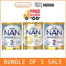 (BUNDLE OF 3)Nestle NAN Optipro HA Formula Milk Stage 2/3/4 100% Send Direct from Australia