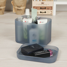 2-Compartment Mini Small Cosmetics Makeup Storage Box