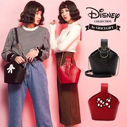 Gracegift-Disney Mickey Minnie double side cylinder bag/Women/Ladies/Girls Shoes/Taiwan Fashion