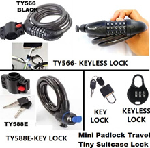 Theft Device Motor Bike Cycle Bicycle Scooter Cable Lock Bicycle/Bike Lock 5-Comb