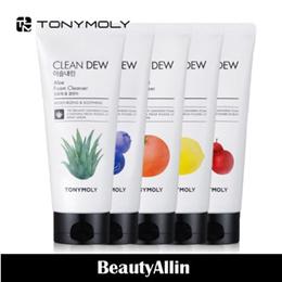 Tonymoly ★NEW★ Clean Dew Foam Cleanser 180ml 5 Type / Aloe / Blueberry / Lemon / Red Grapefruit