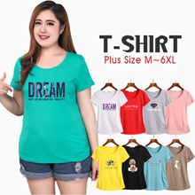 ★Buy 3 Free Shipping ★ Plus size  Women T-Shirt/Tops/Sort sleeve Tee/candy color Tee/Plus Size