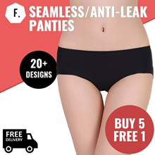[BUY 5 FREE 1] Seamless Panties | Bamboo Panties | Anti Leak | Modal Panties