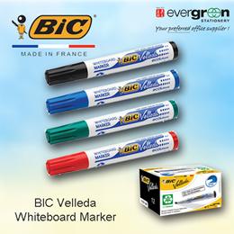 BIC Velleda Whiteboard Marker Black BlueRed Green
