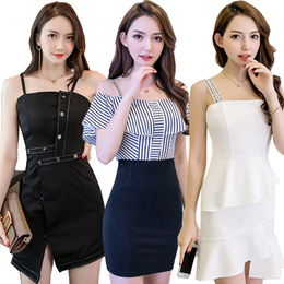 f4d78fa48b Daily Deal Korean style Slim lace dress   Chiffon Dress Long sleeve Dress  Sleeveless Dinner Dress