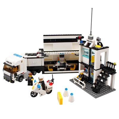 KAZI Building Block Police Command Vehicle #6727 Educational Gift Fidget Toys 511Pcs