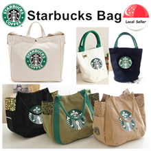 Buy 2 get 1 Free Starbuck Bottle Canvas Tote Bag👍Starbucks Handbag👍Starbucks Lunch Bag👍Shoulder Bag👍Shopping Bag