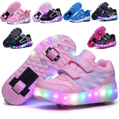 4f3b640aa45ad4 Children LED Roller Skate Shoes With Wheels☆Kids Sports Skate Shoes☆Junior  Sneakers With