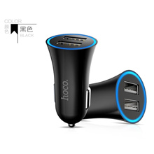 HOCO Car Charger USB Mobil Mobile Charge Smartphone Double Port @2.4A