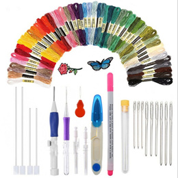 22pcs Embroidery Needles Stitching Punch Pen Set Craft Tool for Threaders DIY