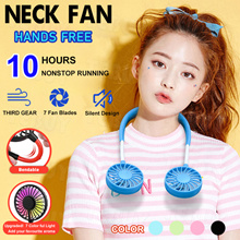 🌀Summer Cool Fan🌀Neck Fan Wireless Portable Rechargeable Hand-Free Wearable Mini Air Cooler