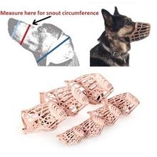 Pet Dog Muzzle PE Plastic Basket Adjustable Mesh Mask Mouth Cage