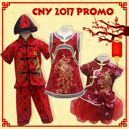 2018 Chinese New Year Kids Unisex / Setelan / Dress Fashion Imlek Deals for only Rp80.000 instead of Rp80.000