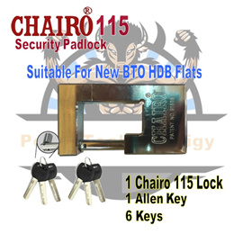 CHAIRO 115 SECURITY LOCK / PAD LOCK / PADLOCK / SUITABLE FOR NEW BTO FLATS / [FREE SHIPPING]